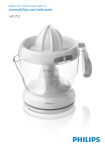 Philips Citrus press HR2792/35
