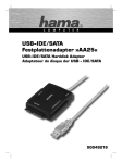 Hama USB - IDE/SATA Hard Disk Adapter, AA25