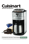 Cuisinart DGB900BCE coffee maker