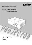 Sanyo PDG-DXT10L data projector
