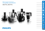 Philips Pure Essentials Collection HR7774/90 1000 W Compact 2-in-1 setup 3.4 l bowl Food processor