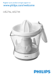 Philips Citrus press HR2746/80