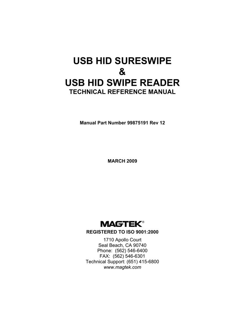MagTek Mini Swipe Reader (USB)