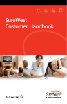 SureWest Customer Handbook
