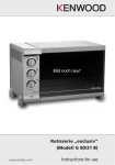 "Rotisserie ""exclusiv"" (Modell G 80/31 B) Instructions for use"