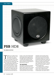PSB HD8 Subwoofer Review and Test