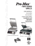 Two Sided Grills 230V