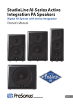 StudioLive™ AI-Series Active Integration PA Speakers