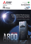 FR-A800 New Product RELEASE