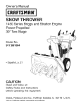snow thrower - Sears Parts