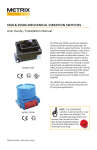 5550 & 5550G MECHANICAL VIBRATION SWITCHES User Guide