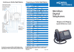 Meridian Digital Telephones M3903 and M3904 Quick Reference