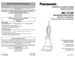Panasonic MC-V120 Bagged Upright Vacuum