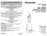 Panasonic MC-V5297 Bagged Upright Vacuum