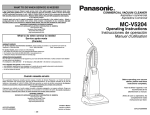 Panasonic MC-V5204 Bagged Upright Vacuum