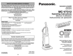 Panasonic MC-V7312 Bagged Upright Vacuum