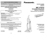 Panasonic MC-V7572 Upright Vacuum