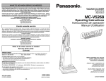Panasonic MC-V5268 Bagged Upright Vacuum
