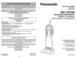 Panasonic MC-V5706 Bagged Upright Vacuum