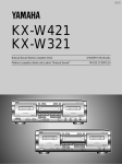 Yamaha KX-W321 Cassette Player User Manual