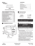 White Rodgers 1 F 78 Thermostat User Manual