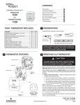 White Rodgers 1C26 Thermostat User Manual