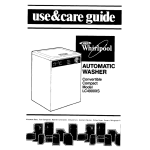 Whirlpool LC49OOXS Washer User Manual