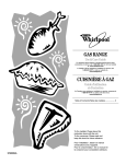 Whirlpool 9762354A Range User Manual