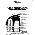 Whirlpool 960 Dishwasher User Manual