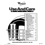 Whirlpool 927 Series Dishwasher User Manual