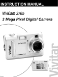 Vivitar 3765 Digital Camera User Manual