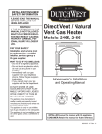 Vermont Casting 2465 Indoor Fireplace User Manual
