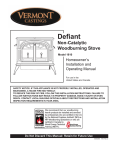 Vermont Casting 1610 Stove User Manual