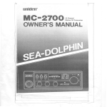 Uniden MC2700 Marine Radio User Manual