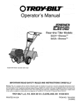 Troy-Bilt 644H Tiller User Manual