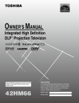 Toshiba 42HM66 Projection Television User Manual