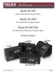 Telex SS-1002 Speaker User Manual