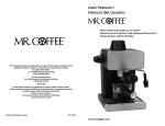 Sunbeam BVMC-ECM260 Espresso Maker User Manual