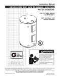 State Industries 184748-001 Water Heater User Manual