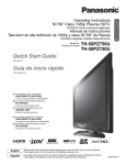 Sony TH-50PZ750U Flat Panel Television User Manual