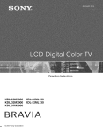 Sony KDL- 32ML 13fi Flat Panel Television User Manual