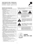 Sonance AS2 User s Manual