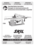 Skil 3700 Saw User Manual