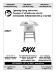 Skil 3305-01 Saw User Manual
