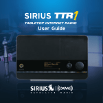Sirius Satellite Radio TTR1 Satellite Radio User Manual