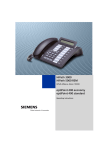 Siemens optiPoint 400 Telephone User Manual