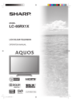 Sharp LC-65RX1X CRT Television User Manual
