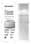 Sharp LC-40LE530X CRT Television User Manual