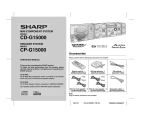 Sharp CD-G15000 Speaker System User Manual