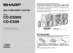 Sharp CD-ES900 Stereo System User Manual